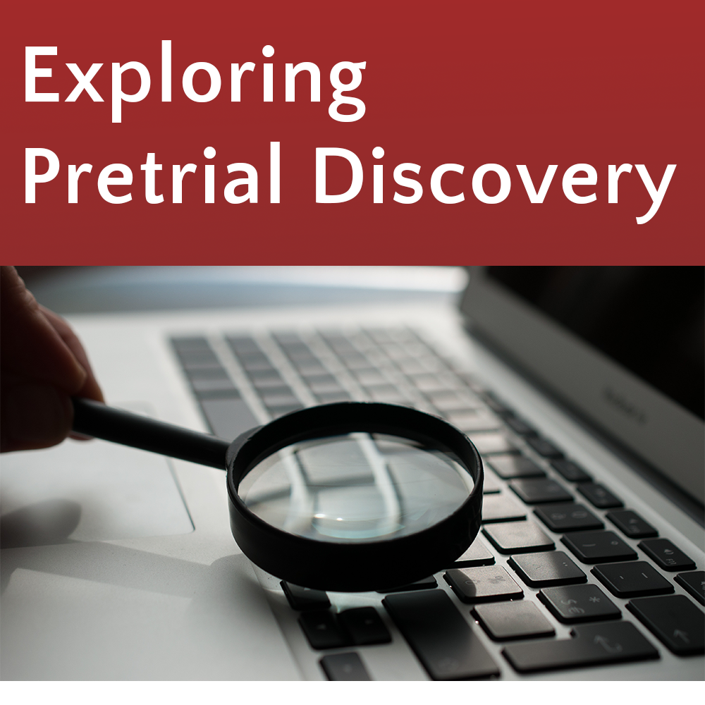 Exploring Pretrial Discovery @ Auburn Library (KCLS)