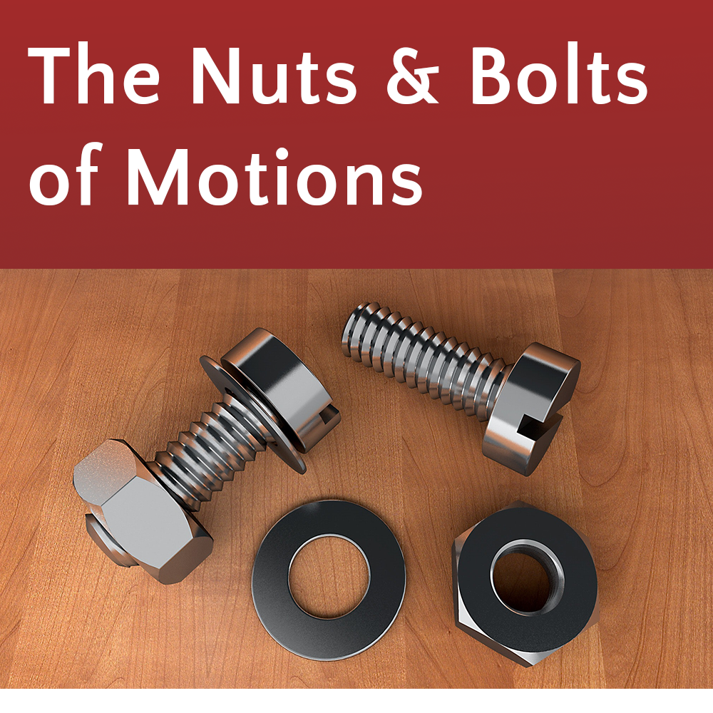 The Nuts & Bolts Of Motions @ Online