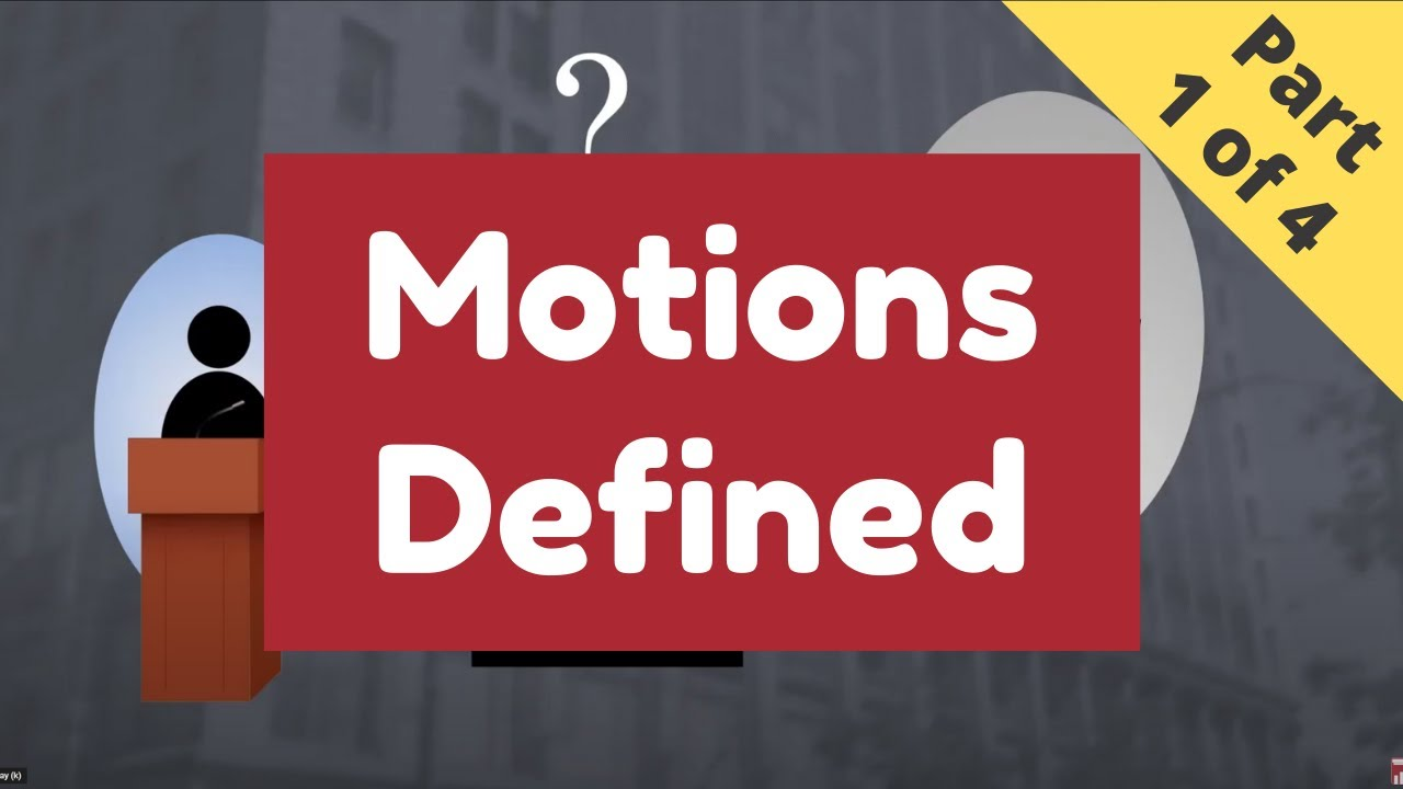 The Nuts and Bolts of Motions   (Part 1 of 4 - Definition)