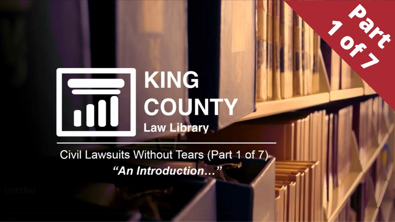 Lawsuits Without Tears - Part 1 (An Introduction)