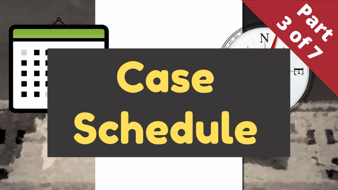 Lawsuits Without Tears - Part 3 (Case Schedule)