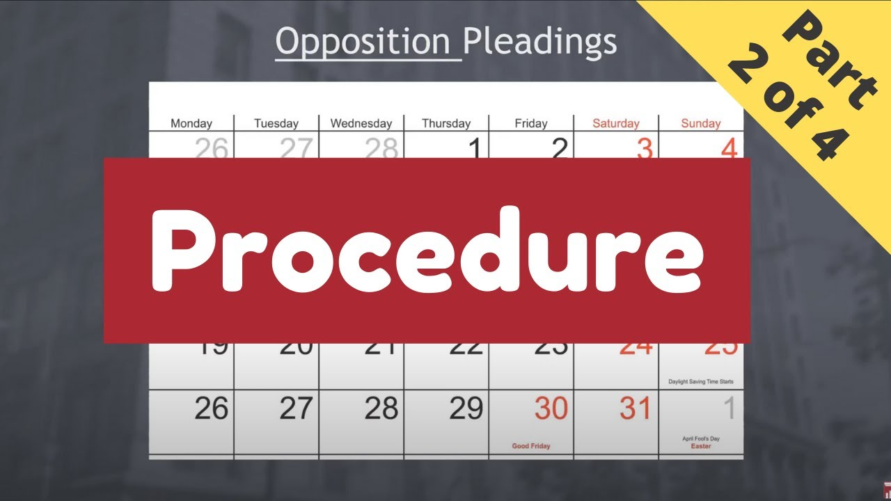The Nuts and Bolts of Motions (Part 2 of 4 - Procedure)