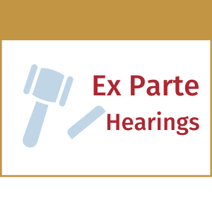 ex parte hearings scheduling protection orders dvpo