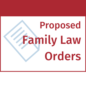proposed family law orders efiling efile