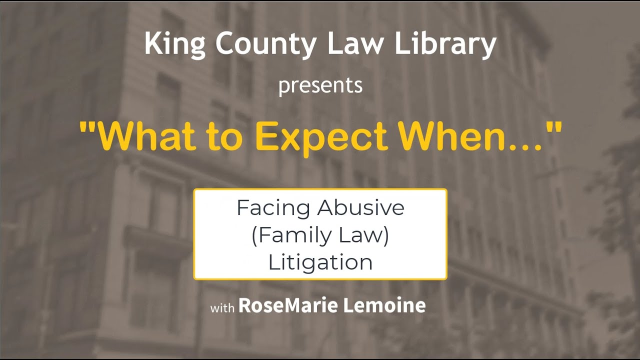 WTEW... Facing Abusive Litigation