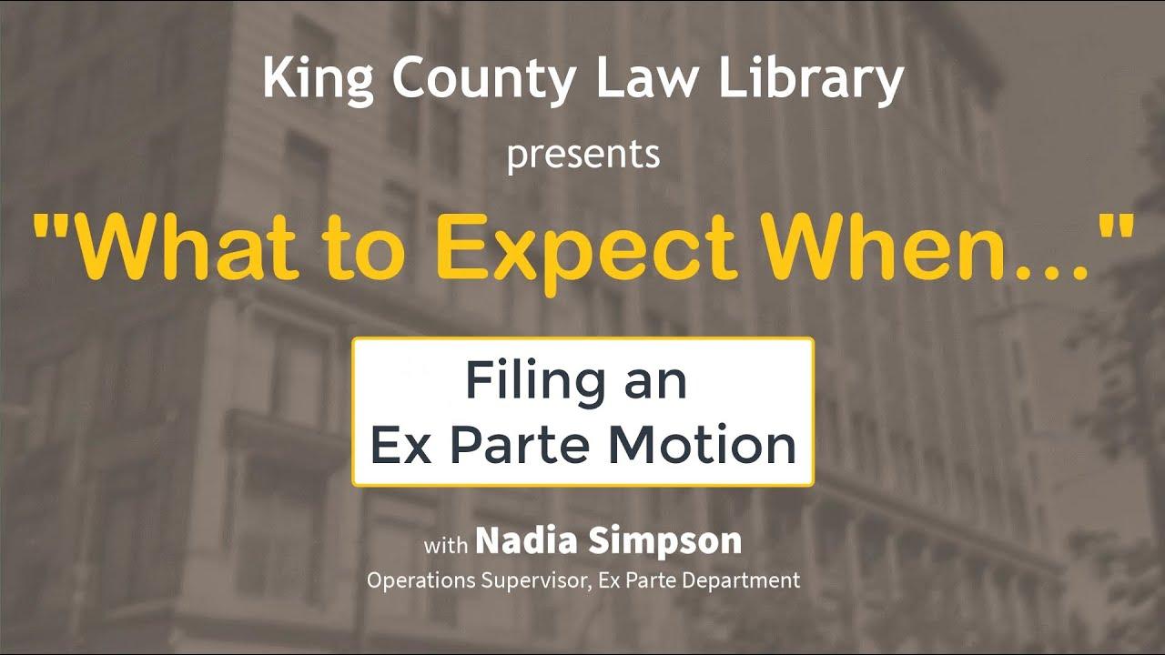 WTEW... Filing Ex Parte Motion